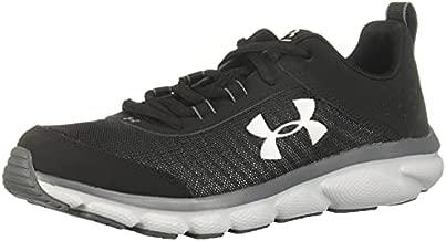 Under Armour Unisex-Youth Grade School Assert 8 Sneaker, Black (001)/Pitch Gray, 7