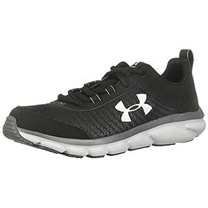 Under Armour Unisex-Youth Grade School Assert 8 Sneaker, Black (001)/Pitch Gray, 4