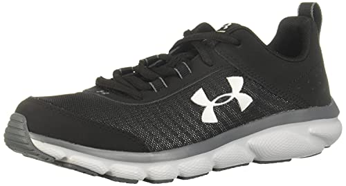 Under Armour Unisex-Youth Grade School Assert 8 Sneaker, Black (001)/Pitch Gray, 5