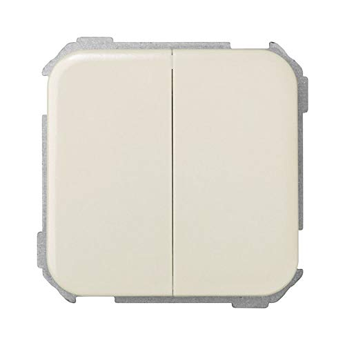 Simon 31398-31 - Interruptor doble, color Marfil (Ivory)