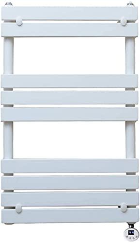 ADSE Toalleros con calefacción de bajo Consumo, 500 * 800 MM, Blanco, termostato Inteligente, Calefactor, toallero, para baño, Dormitorio, Cocina u Hotel