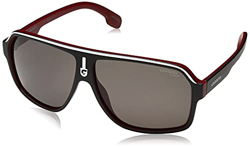 Carrera 1001/S M9 BLX Gafas de sol, Negro (Matt Black Ruthe Crystal Red/Grey Grey), 62 Unisex Adulto