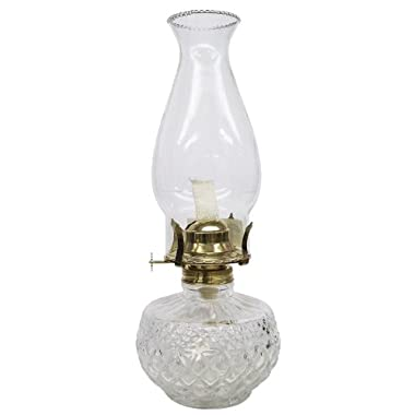 Glo-Brite by 21st Century L399CL Diamond Lite Clear Glass Oil Lamp