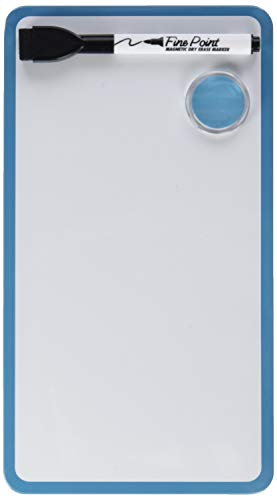 The Board Dudes: 5.5 x 10 Inches Magnetic Dry Erase Board, Includes 1 Marker and Magnet, Frame Color May Vary