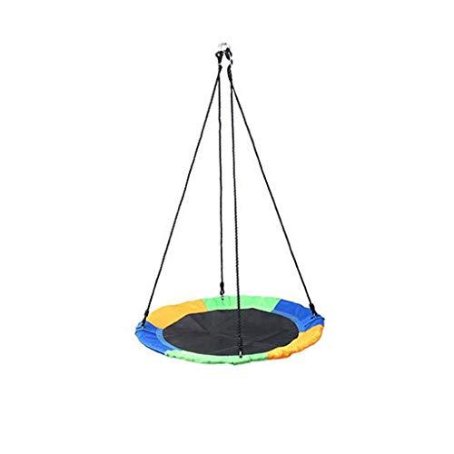 JDH 40-Zoll-Untertassen-Baumschaukel, einstellbare Kinderschaukel mit einem Gewicht von 500 Pfund, runde Mattenschaukel für Kinder im Innen- und Außenbereich - ideal für Baum, Schaukel, Garten