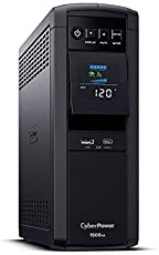 CyberPower CP1500PFCLCD PFC Sinewave UPS System, 1500VA/1000W, 12 Outlets, AVR, Mini Tower, Black