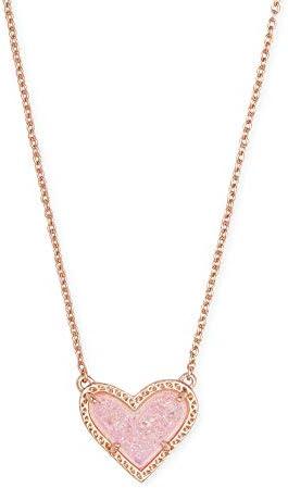 Kendra Scott Ari Heart Adjustable Length Pendant Necklace for Women Fashion Jewelry 14k Rose product image