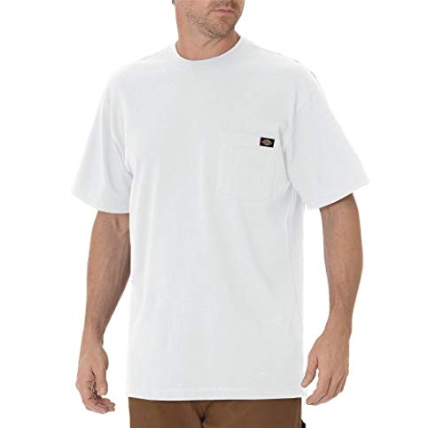 Dickie's Men's Heavyweight Crew Neck Short Sleeve Tee Big-tall,White,X-Large Tall