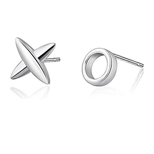 kakupao Mini X O Studs, Handmade, Silver, Kiss, Hug, Earrings, Love, Gift, Mismatch, Valentines, Love