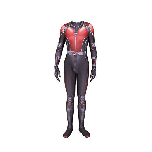 NVHAIM Avengers 4 Ant-Man Scott Lang Tight Set Juego Anime Role Garment Cosplay collant di un Pezzo Vestito da recitazione Sin Casco, Kids S