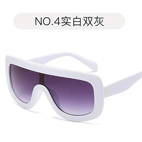 LAOGEFJ Gafas de Sol de Moda Gafas de Sol Retro con Montura Grande Gafas de Sol UV400 Gafas de Sol Personalizadas para Mujer