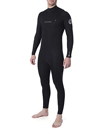 Rip Curl Mens Dawn Patrol Performance 4/3mm Wetsuit met Chest Zip Zwart - Easy Stretch - E5 tape op stresspunten