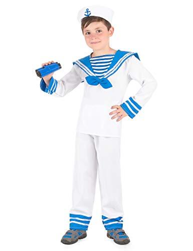 Générique Déguisement Marin Bleu et Blanc garçon - M 7-9 Ans (120-130 cm)