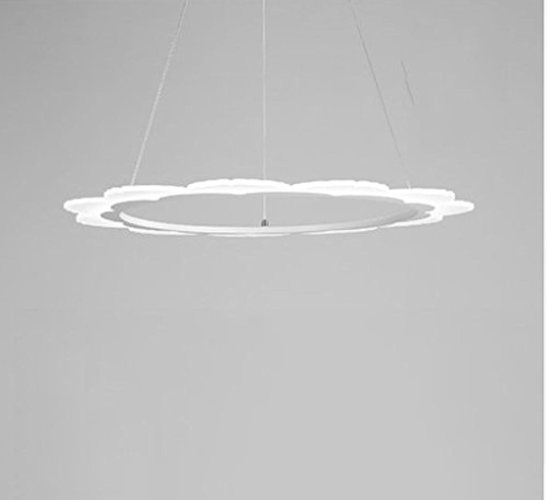 OOFAY LIGHT Nordische Kronleuchter-Aluminiumgaststtte Beleuchtet LED-Runde Blaumen-Geformte Lampen,A