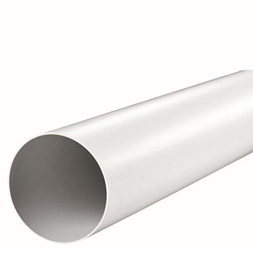 Fibo24 Ø 100, 125, 150 mm Lüftungsrohr 50, 100, 150 cm Abluft-Rohr,Länge: 100 cm, Durchmesser: 150 mm