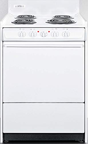Summit WEM610 Kitchen Electric Cooking Range, White