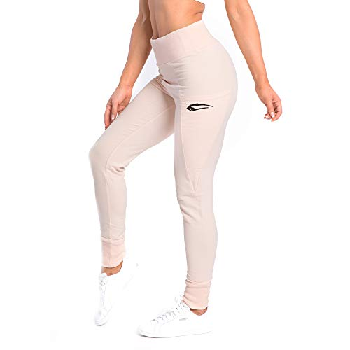 SMILODOX Damen Jogginghose 'Delicate' | Trainingshose für Sport Fitness Gym Training | Sportleggings - Jogger Pants - Sweatpants Hosen - Freizeithose Lang, Farbe:Pink, Größe:S
