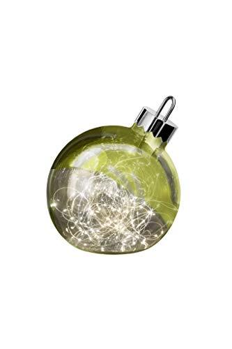 sompex LED Dekoleuchte Ornament   Große Weihnachtskugel mit Beleuchtung   Dekoelement Fußboden/Fensterbank, Farbe:grün, Durchmesser:Ø 25 cm