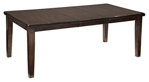 Signature Design by Ashley Haddigan Dining Room Extension Table, Dark Brown