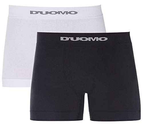 Kit 2 Cuecas Boxer Básico, Duomo, Masculino, Preto e Branco, GG
