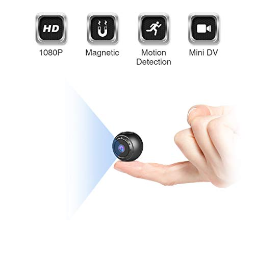 Mini Spy Camera,MHDYT 1080P HD Small Hidden Cameras Wireless Home Security Surveillance Camera, Covert Secret Nanny Cam with Motion Detection and Night Vision,Indoor/Outdoor Micro CCTV Video Camera