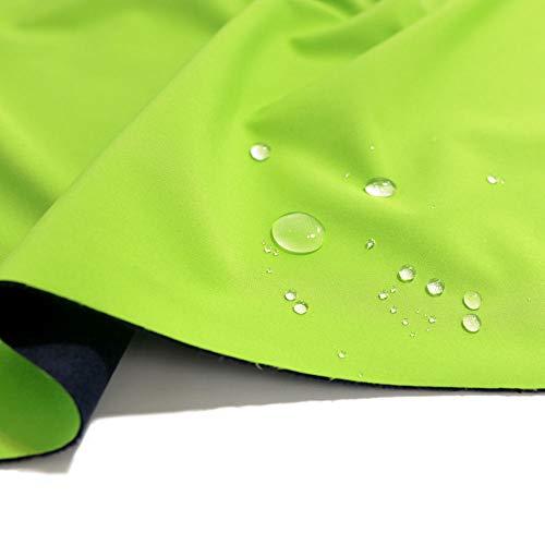 TOLKO Outdoor Softshell-Stoff mit Fleece   Wasserdicht Elastisch Atmungsaktiv   Allwetterstoff für Jacke Hose   zum Wandern Radfahren Joggen Reiten Bergsteigen 145cm breit Meterware (Apfel Grün)
