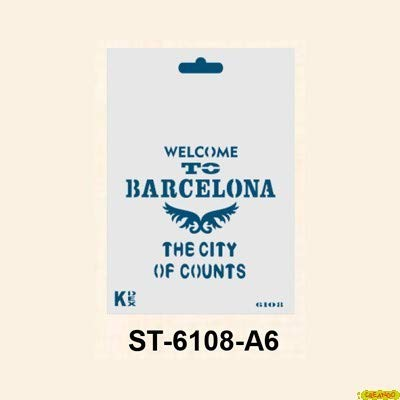 Kashakydex Plantilla Stencil DIN A6 Barcelona 105x148´5 mm