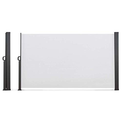 IDMarket - Paravent extérieur rétractable 400 x 160 cm Blanc Store latéral