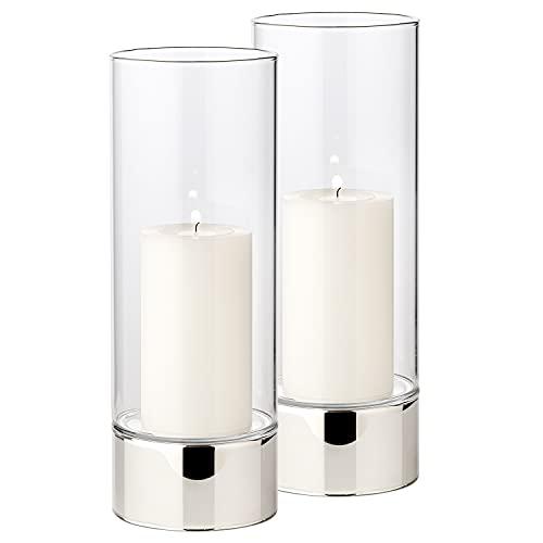 Edzard ED7012 para velas candelabro de constanze de colour plateado altura de 12 cm