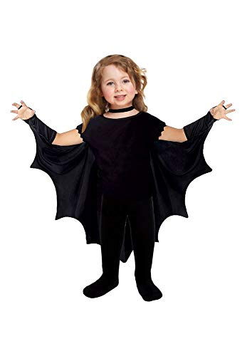 shoperama Capa de murciélago para niños pequeños de 3 a 5 años, disfraz de Halloween con alas de murciélago