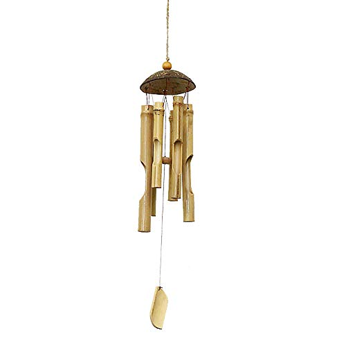 Carillon De Vent Rétro Tube De Bambou Chinois Traditionnel Incroyable Pendaison Ornements Créatif Carillon Carillon Fait à La Main Maison Hôtel Décoration Air Cloche,10 * 64cm