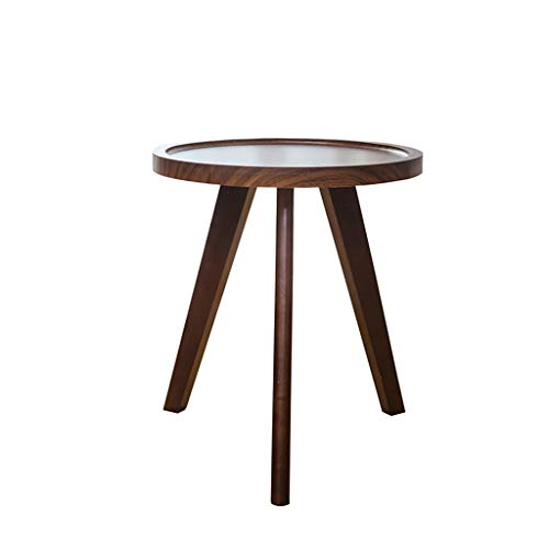 SZQ-Bijzettafels Vintage, Massieve Wood Single Layer Tea Table Tea Room Cafe Living Room Side Table Reception Coffee Table Salontafels (Color : A, Size : 60 * 55CM)