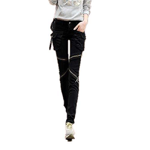 N\P Slim Big Pocket Harem Pants Autumn and Winter Women's Casual Pants Black