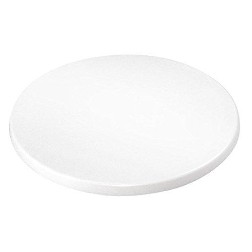 Bolero gg645redondo tablero de la mesa, color blanco