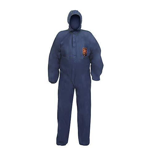 Kleenguard A10 Buzos de protección ligera con capucha - Pequeño (código 95640) 50 x buzo azul por bolsa