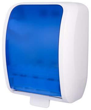 Set: Handtuchrollenspender Autocut, Blanc Cosmos 6 Handtuchrollen Premium TAD - PRODUKTSET - Blau/Weiß