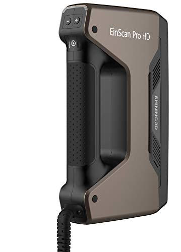 2021 EinScan Pro HD Multi-Functional Handheld 3D Scanner, 0.045mm Accuracy, 0.2mm Resolution, Solid Edge CAD Software for Reverse Engineering, Healthcare, Manufacturing, Research, Art and Design, grey