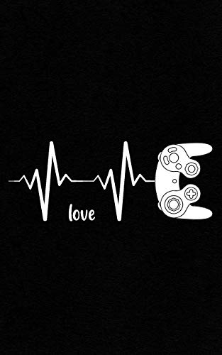 Love: Heartbeat Controller Gamer Gift MMO, RTS, FPS, RPG Video Game Lover Notebook - PC or Console!