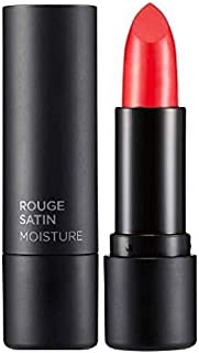 The Face Shop Rouge Satin Moisture Lipstick, Rd02 It Coral, 1 ml
