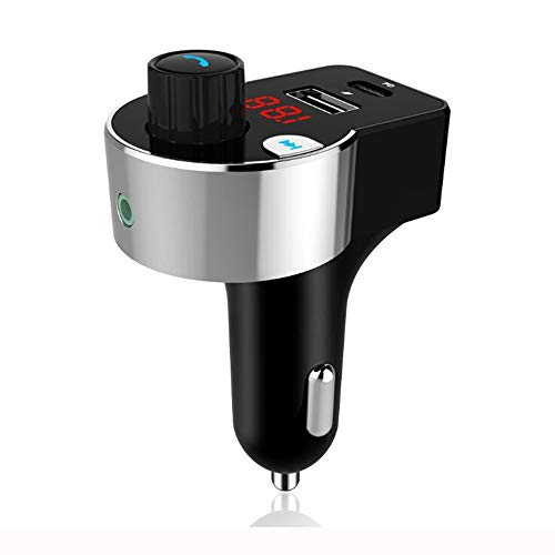WNN-URG Bluetooth 5.0 Car Adapter AI Voice Smart Car Charger USB/PD Flash Charging Combination Interface/car MP3 Player FM Transmitter Hands-Free Call URG