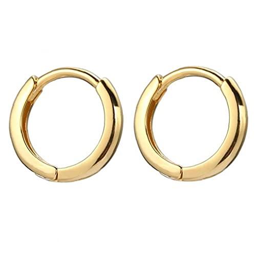 Pendientes de aro en miniatura para hombre de 10 mm con forma de aro para cartílago, de oro, hipoalergénicos.