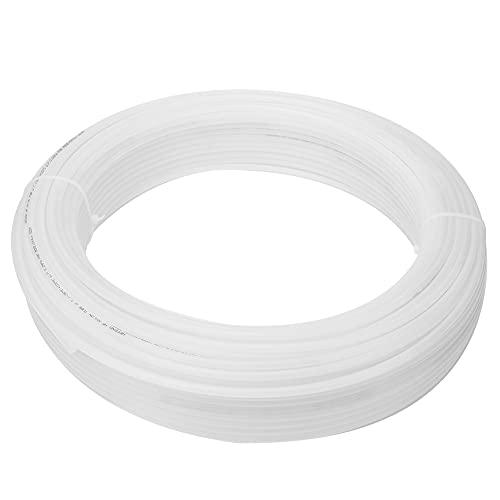Qqmora Tubo de Agua Manguera de Aire ácido antidesgaste 100m para Sistema neumático para Sistema de Aire(8 * 6 White*100M)
