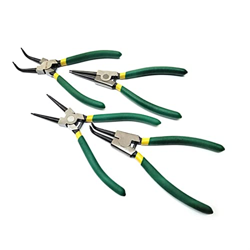 Alicates y tenazas 4pcs 7 pulgadas de acero externo de carbono externo de acero multi rizado de la punta recta Circlip Snap Ring Plier Professional Circlip Pliers