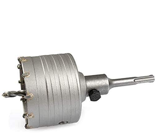 TIMESETL Hohlbohrkrone Hohl-Bohrkrone Set Ø 82mm mit SDS Plus Adapter 110mm, schlagbohrfest Lochsägen Set inkl. 110mm Zentrierbohrer und Schraube