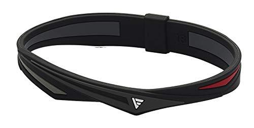 ファイテン(phiten) ブレスレット RAKUWAブレス EXTREME ツイスト ブラック/レッド 16cm