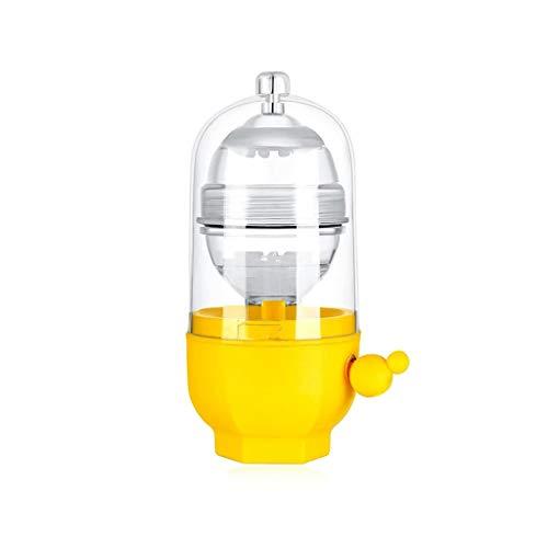 Easyu Egg Scrambler Shaker Whisk Hand Powered Golden Egg Maker Mixer Cooking Utensil (Yellow)