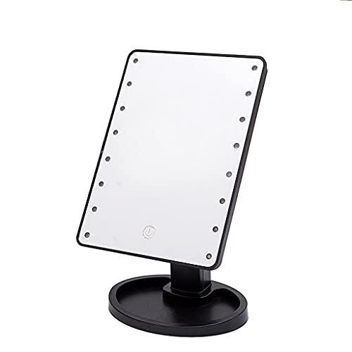 ZCZZ Espejo de Maquillaje con Luces, Espejo de Maquillaje Iluminado, Espejo táctil Regulable, Espejo de Maquillaje Giratorio con luz LED con Soporte de Mesa, se Aplica al baño