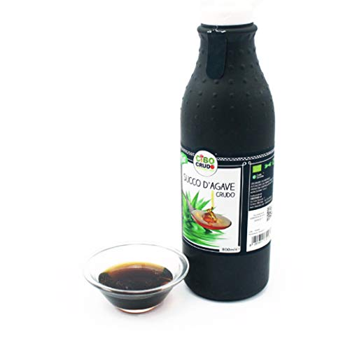 Cibocrudo Sciroppo di Agave Biologico Crudo, Agave Nectar Raw Organic – 800Ml – Nettare Bio, Succo D'Agave Naturale e Solubile, Originario del Messico, Etichette in Italiano