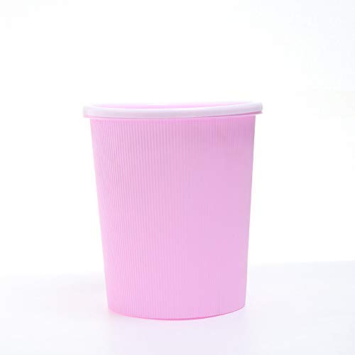 Ibuprofen Round Waste Bin Creative Fashion Household Waste Paper Basket with Pressure Ring Without Cover Waste Bin Pink