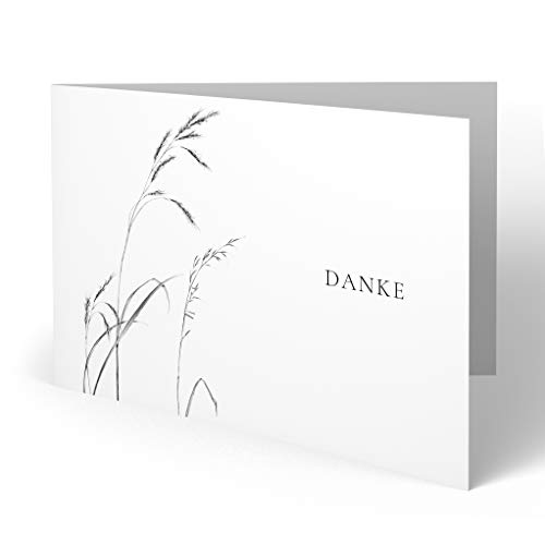 (20 x) Trauer Dankeskarten Danksagung Trauerkarten Beileid Karten Bestattung Beerdigung